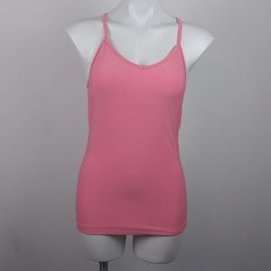 Nike Dri-fit Pink Open Back Racer Back Top(M)